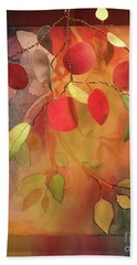 Autumn Apples 3d Beach Towel