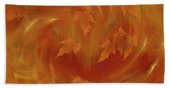 Autumn Art - Autumn Rhapsody By Rgiada Beach Sheet by Giada Rossi