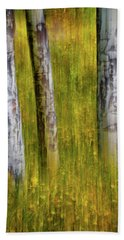 Beach Sheet featuring the photograph Autumn Aspen Recollections by John De Bord