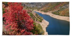 Autumn At Causey Reservoir - Utah Beach Towel