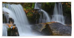 Autumn At Jackson Falls Beach Towel