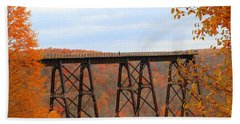 Autumn At Kinzua Bridge Beach Towel