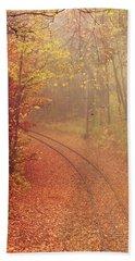 Autumn At Lake Harriet  Beach Towel