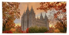 Autumn At Temple Square Beach Towel