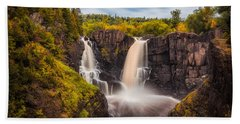 Beach Towel featuring the photograph Autumn At The High Falls by Rikk Flohr