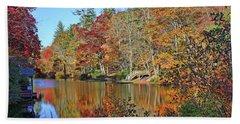 Autumn At The Lake 2 Beach Sheet