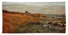 Beach Towel featuring the photograph Autumn At The Mouth Of The Big Sable by Michelle Calkins