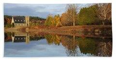 Autumn At The Old Stone Church Beach Towel