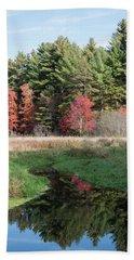 Autumn At The River Beach Sheet