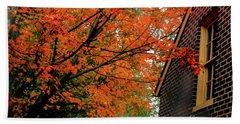Autumn At The Window Beach Sheet