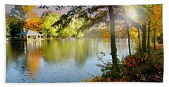 Autumn At Tilley Pond Beach Towel