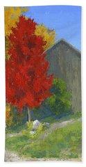 Autumn Barn Beach Sheet