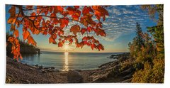 Autumn Bay Near Shovel Point Beach Towel