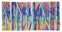 Autumn Birch Beach Towel