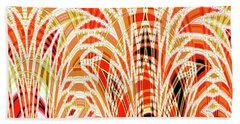 Beach Towel featuring the digital art Autumn Botanical Tapestry by Ann Johndro-Collins