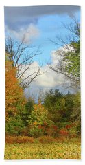Autumn Breeze Nature Art Beach Towel by Robyn King