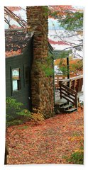 Autumn Cabin Beach Sheet