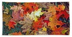 Autumn Carpet Beach Towel