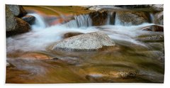Autumn Cascade Nh Beach Towel by Michael Hubley