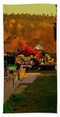 Autumn Cemetery Beach Towel