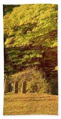 Beach Sheet featuring the photograph Autumn Cemetery by Tom Singleton