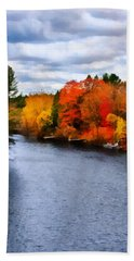 Autumn Channel Beach Towel