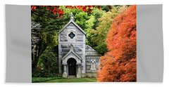 Autumn Chapel Beach Towel