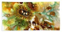 Autumn Chestnuts Beach Towel