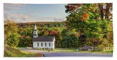 Autumn Church II Beach Towel