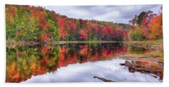 Beach Towel featuring the photograph Autumn Color At The Pond by David Patterson