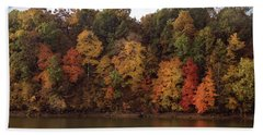 Autumn Color In The Ozarks, Southwest Missouri Usa Beach Towel
