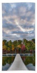 Autumn Colors At The Lake Beach Towel