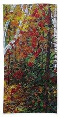 Autumn Colors Beach Towel by Mike Caitham
