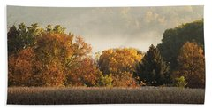 Autumn Cornfield Beach Sheet by Inspired Arts