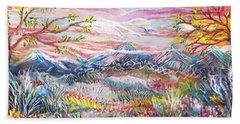 Autumn Country Mountains Beach Sheet
