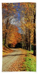 Autumn Country Road Beach Sheet