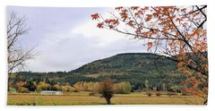 Autumn Country View Beach Towel