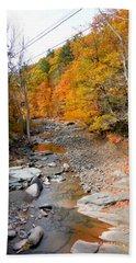 Autumn Creek 5 Beach Towel