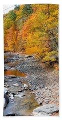 Autumn Creek 6 Beach Towel