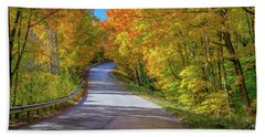 Autumn Drive  Beach Towel
