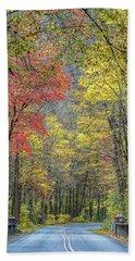 Autumn Drive Through Pisgah National Forest Beach Sheet
