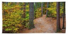 Autumn Fall Foliage In New England Beach Towel