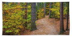 Autumn Fall Foliage In New England Beach Towel