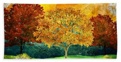 Autumn Fantasy Beach Towel by Ally White