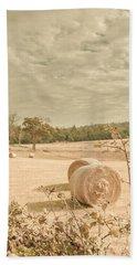 Autumn Farming And Agriculture Landscape Beach Towel