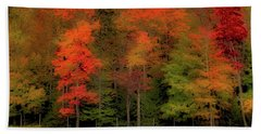 Autumn Fence Line Beach Towel