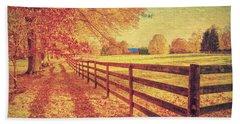 Autumn Fences Beach Sheet