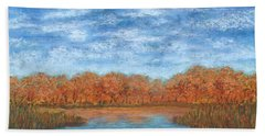 Autumn Field 01 Beach Towel
