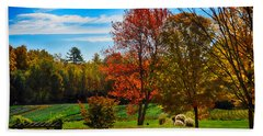 Autumn Field Beach Sheet by Tricia Marchlik