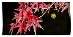 Beach Towel featuring the photograph Autumn Fire by AJ Schibig
